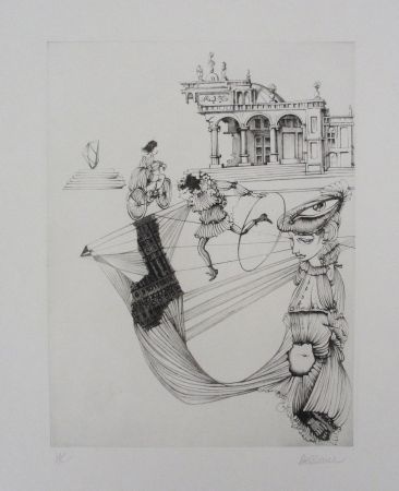 Aguafuerte Y Aguatinta Bellmer - Filles Et Cerceau