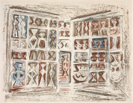 Litografía Campigli - Finestre