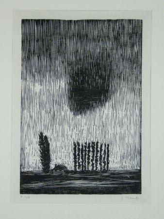 Grabado En Madera Marcks - Finstere Wolke (Dark Cloud)