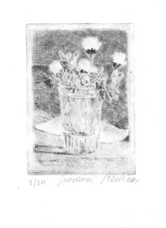 Aguafuerte Barbisan - Fiori nel bicchiere