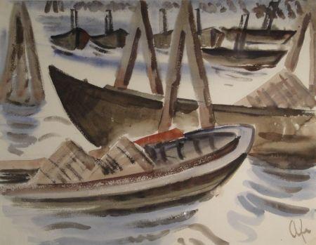 Monotipo Fleischmann - Fischerboote im Hafen