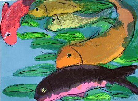 Litografía Ting - Fisches