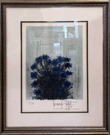 Litografía Buffet - Fleur Bleu (Blue Flowers)