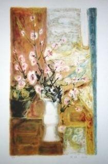 Litografía Lê Phô - Fleur de Pommier