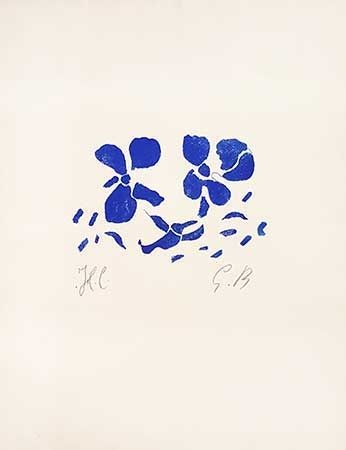 Grabado En Madera Braque - Fleurs
