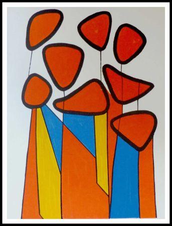 Litografía Calder - Fleurs de courge