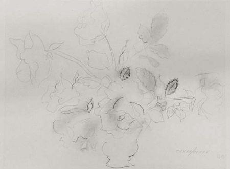 Litografía Dufy - «Fleurs II»