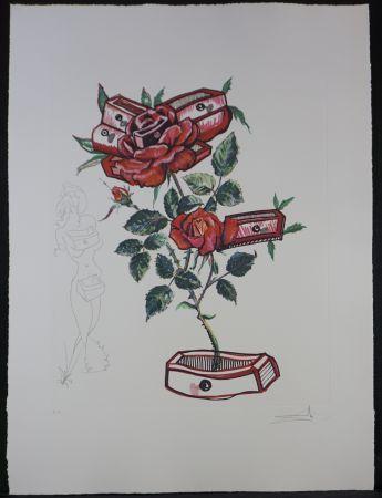 Grabado Dali - Florals Rose