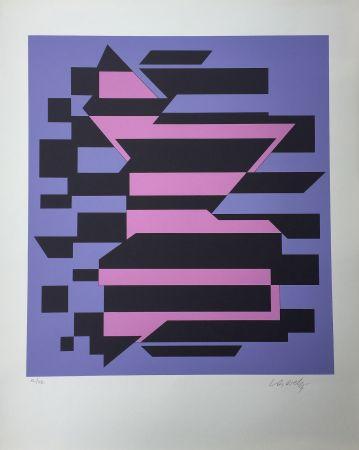 Serigrafía Vasarely - Flores