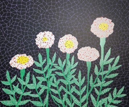 Litografía Kusama - Flower