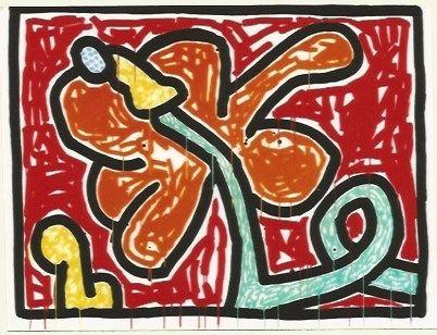 Serigrafía Haring - Flower # 5