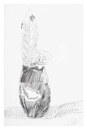 Serigrafía Warhol - Flower (Black & White)