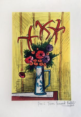 Litografía Buffet - Flower Bouquet
