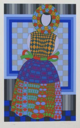 Múltiple Vasarely - Flower Girl