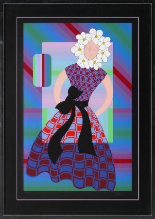 Serigrafía Vasarely - Flower Girl