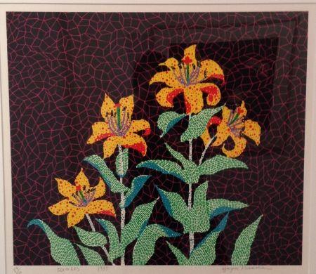 Serigrafía Kusama - Flowers