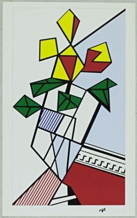 Serigrafía Lichtenstein - Flowers