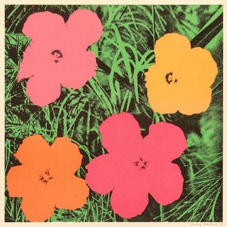 Litografía Warhol - Flowers