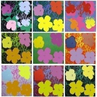 Serigrafía Warhol - Flowers - 10 silkscreens