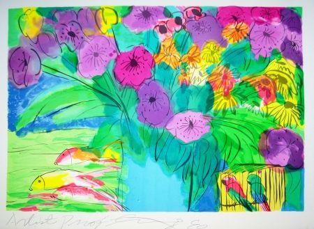 Litografía Ting - Flowers 1