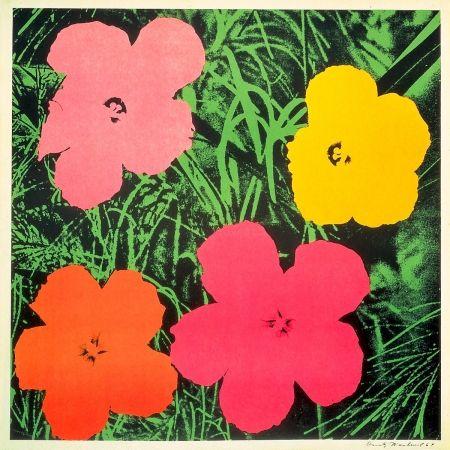 Litografía Warhol - Flowers 1964