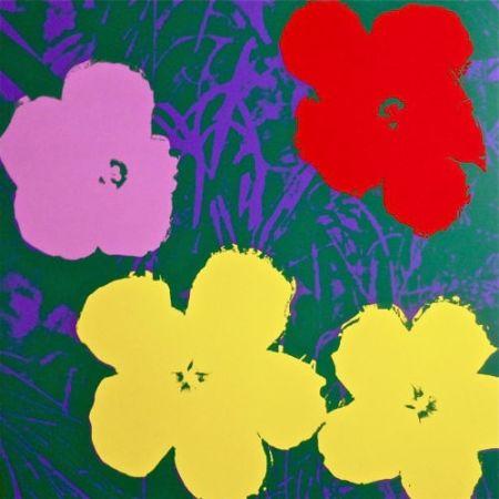 Serigrafía Warhol (After) - Flowers IV