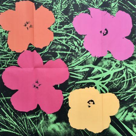 Sin Técnico Warhol - 'Flowers (Leo Castelli Mailer)' 1964 Original Pop Art Poster