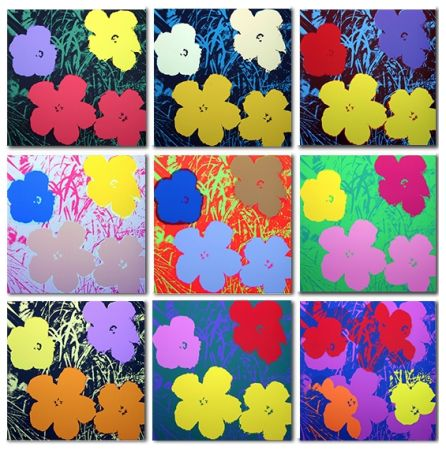 Serigrafía Warhol - Flowers Set Of 10 (By Sunday B. Morning)