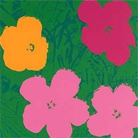 Serigrafía Warhol (After) - Flowers V