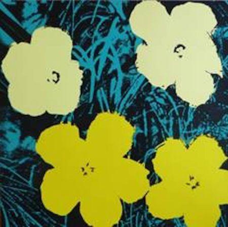 Serigrafía Warhol (After) - Flowers Vii