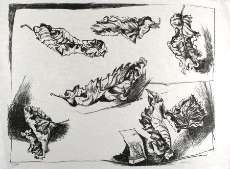 Litografía Guttuso - Foglie