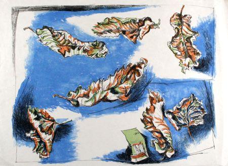 Litografía Guttuso - Foglie (Leaves)