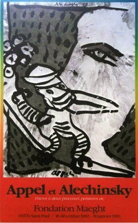Cartel Alechinsky - '' Fondation MAEGHT '' - Avec Karel APPEL