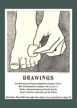 Litografía Lichtenstein - 'Foot Medication' (Castelli Mailer) Hand Signed Poster Print