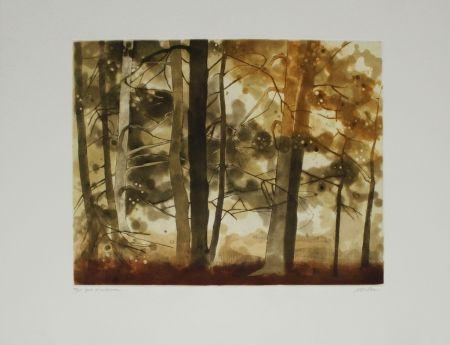 Aguafuerte Y Aguatinta Walker - Forêt d'automne / Autumn Forest