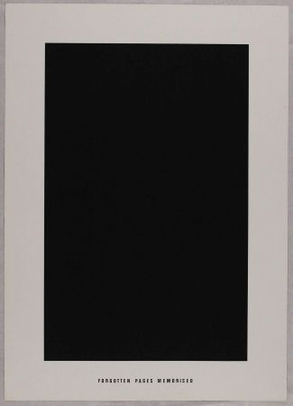Litografía Agnetti - Forgotten pages memorised from 'Spazio perduto e spazio costruito' portfolio, Plate G