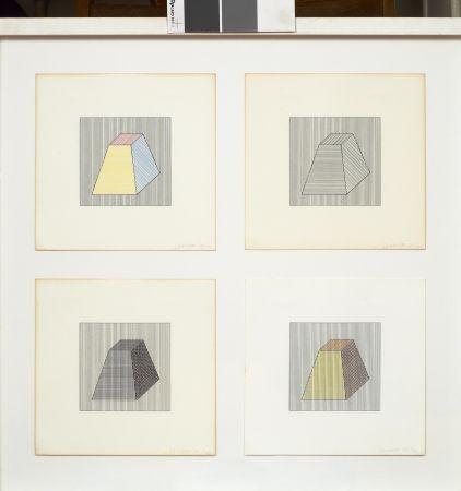 Serigrafía Lewitt - Forme dérivée d'un cube