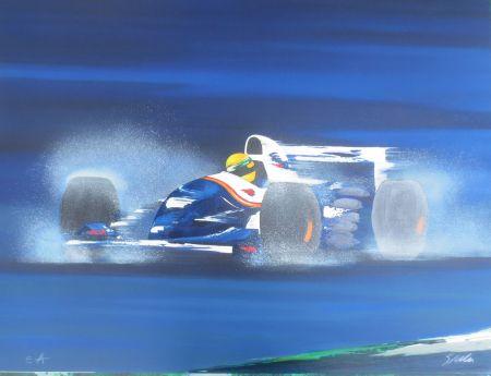 Litografía Spahn -  Formule I bleue