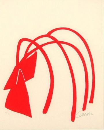 Litografía Calder - Four Arches