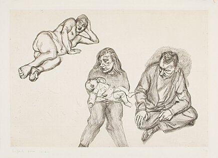 Grabado Freud - Four Figures (Vier Figuren)