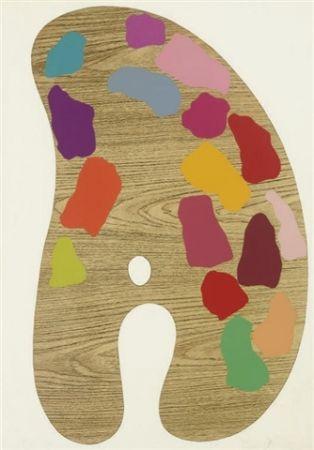 Serigrafía Dine - Four palettes n°1