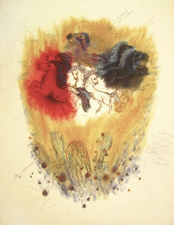 Litografía Rubin - Four Spirits of the Heavens – From the Portfolio Visions of the Bible