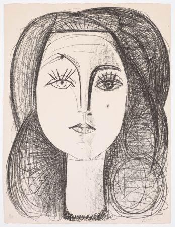 Litografía Picasso - Françoise 1946
