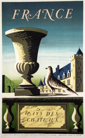Litografía Picard Ledoux - France Pays de Chateaux