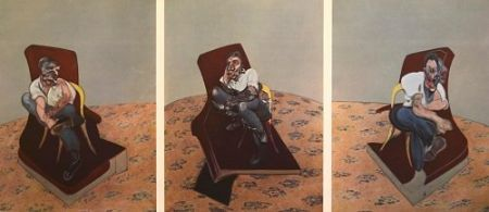 Litografía Bacon - Francis Bacon - Portrait Of Lucien Freud 1966