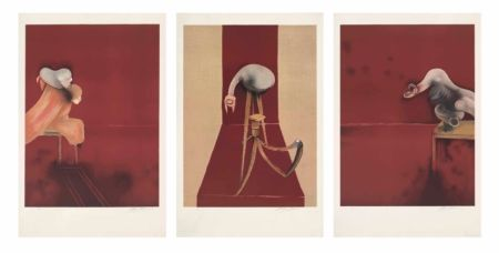 Litografía Bacon - FRANCIS BACON, SECOND VERSION OF TRIPTYCH