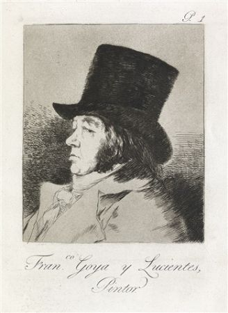 Aguafuerte Y Aguatinta Goya - Francisco Goya y Lucientes, Pintor.  / Self-Portrait of Goya
