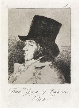Aguafuerte Y Aguatinta Goya - Francisco Goya y Lucientes, Pintor.  / Self-Portrait of Goya