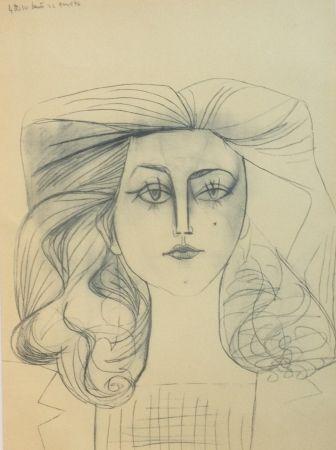 Litografía Picasso - Francoise Gilot 1