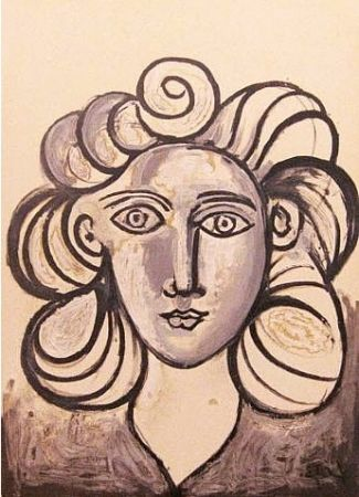 Litografía Picasso - Francoise Gilot 2